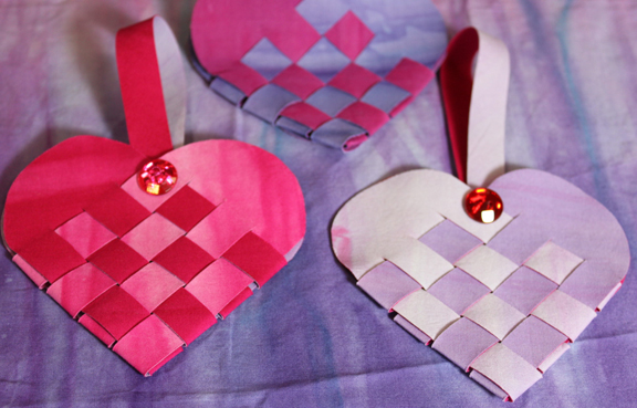 Frieda Anderson Woven heart Baskets